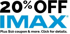 IMAX 10% OFF Discount